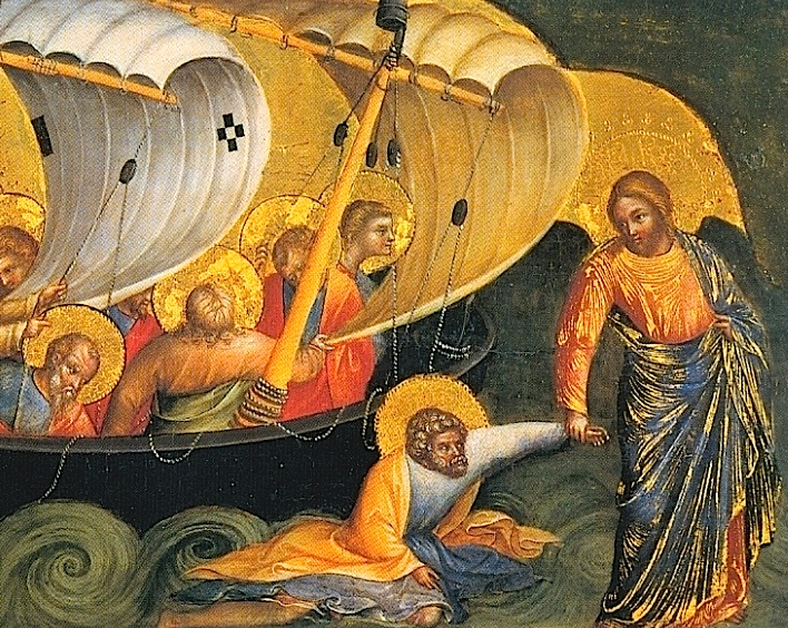 Detail from Christ Rescuing Peter, Lorenzo Veneziano 1380
