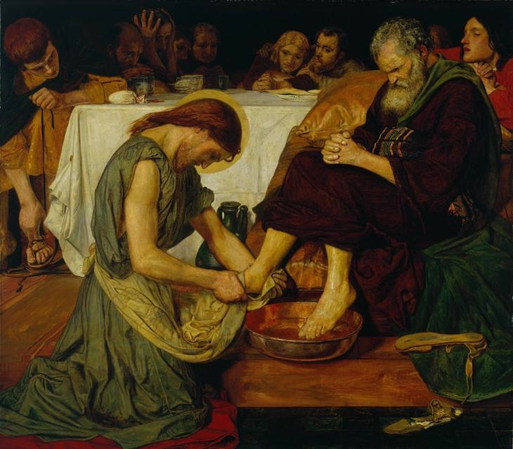 Jesus Washing Peter's Feet, Ford Madox Brown, 1825-1826