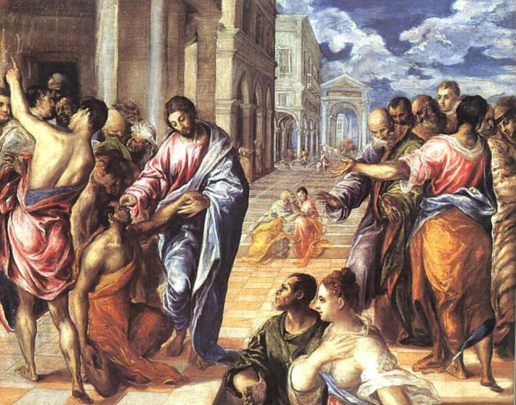 Christ Healing the Blind, El Greco (1578)