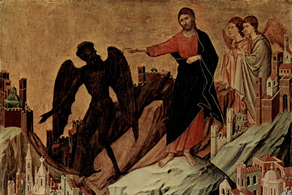 Temptation on the Mount, Duccio di Buoninsegna